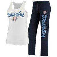 Oklahoma City Thunder Concepts Sport Women's Topic Tank Top & Pants Sleep Set - White/Navy