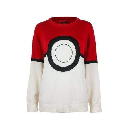 Pokemon I Am Pokeball Knit Pullover Sweater: Medium