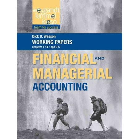 Financial and Managerial Accounting: Chapters 1-14, App D-g