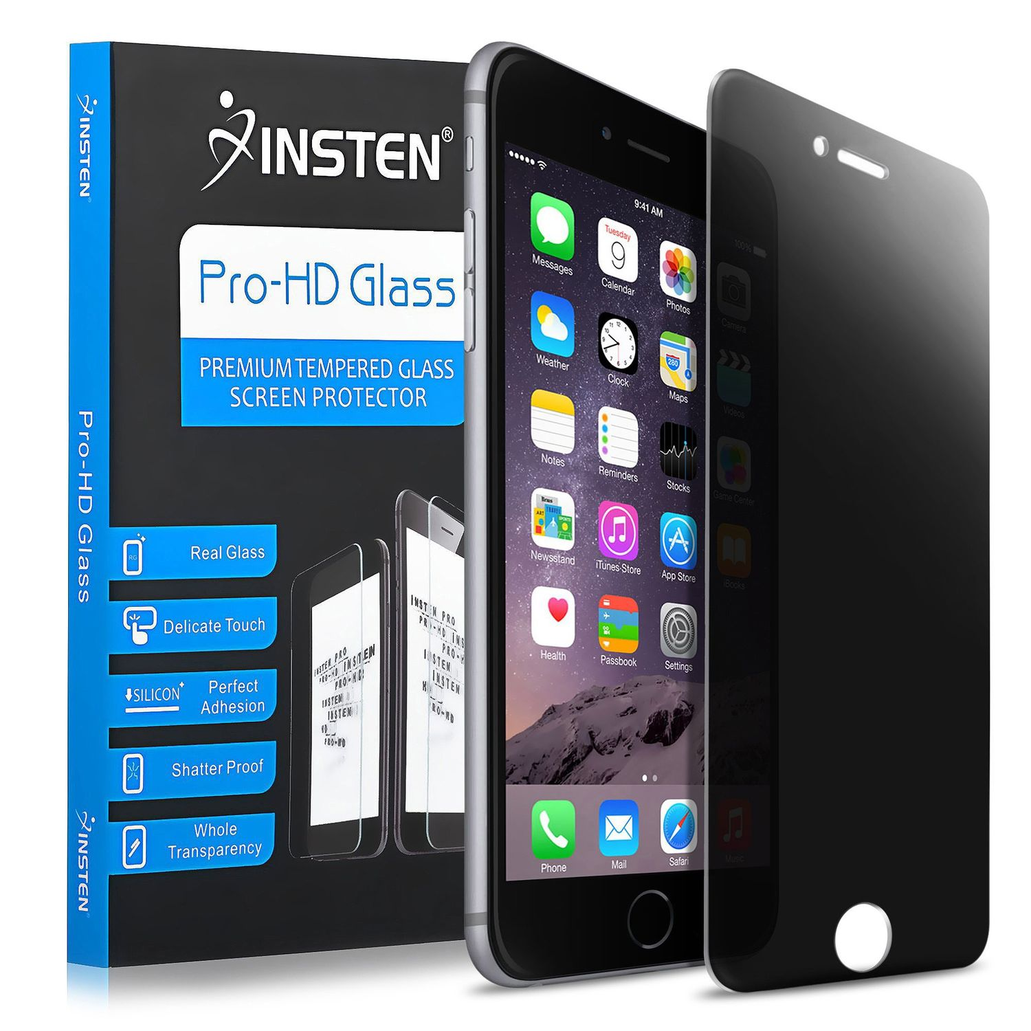 """Insten (2-pack) PRIVACY LCD Film ANTI-SPY Tempered Glass Screen Protector For Apple iPhone 8 Plus / iPhone 7 Plus 5.5"""""""