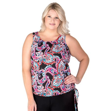 e222c034e68 Swimsuits Just For Us - Plus-Size Swimwear Top - Wear Your Own Bra -  Paisley - Walmart.com