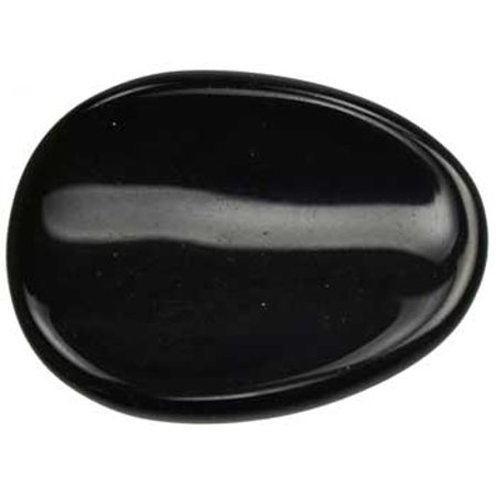 Party Games Accessories Halloween Séance Gemstone Pocket Worry Stone Black Obsidian Psychic Cleaning](Optic Jewel Halloween)