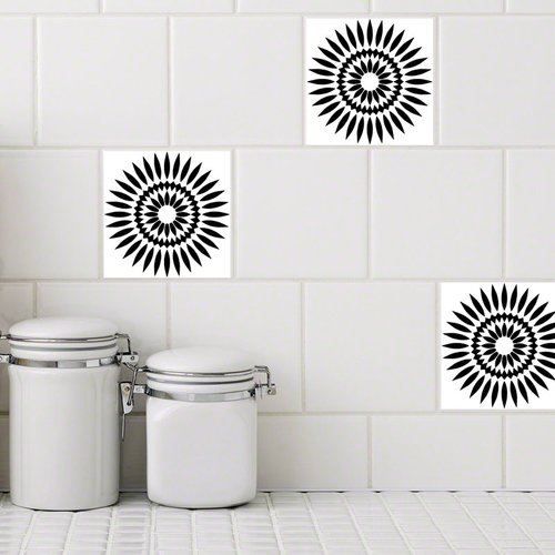 Stick Pretty Retile Sunflower Wall Decal (Set of 10)