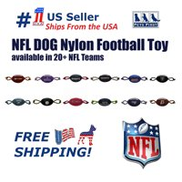 Pets First NFL Baltimore Ravens Strong, Durable, Chewable Pet Dog Football Toy with inner SQUEAKER & Side Ropes. Available in 32 NFL TEAMS. - Officialy Licensed