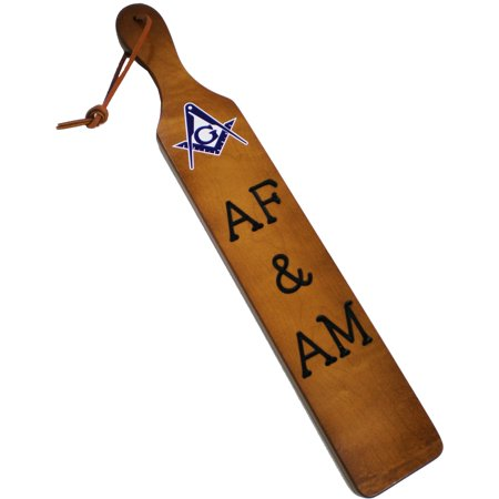 Choose Letter - Mason AF&AM Branded Letters Traditional Paddle [Brown - 22x3.5