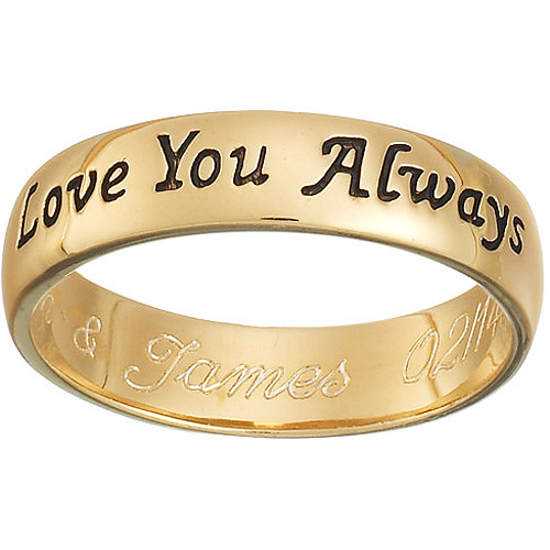 Personalized Gold Over Sterling ''Love You Always'' sentiment band