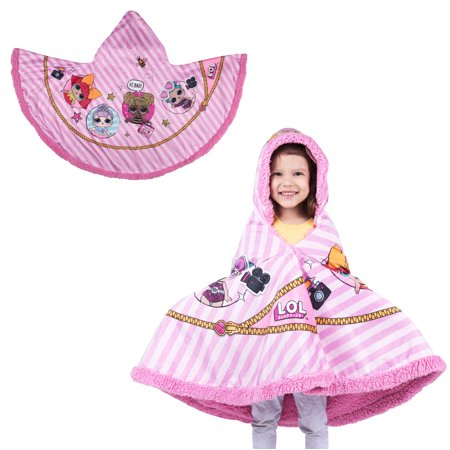 """L.O.L. Surprise! Super Soft and Cozy Snuggle Wrap Hoodie Blanket, 55"""" x 31"""""""