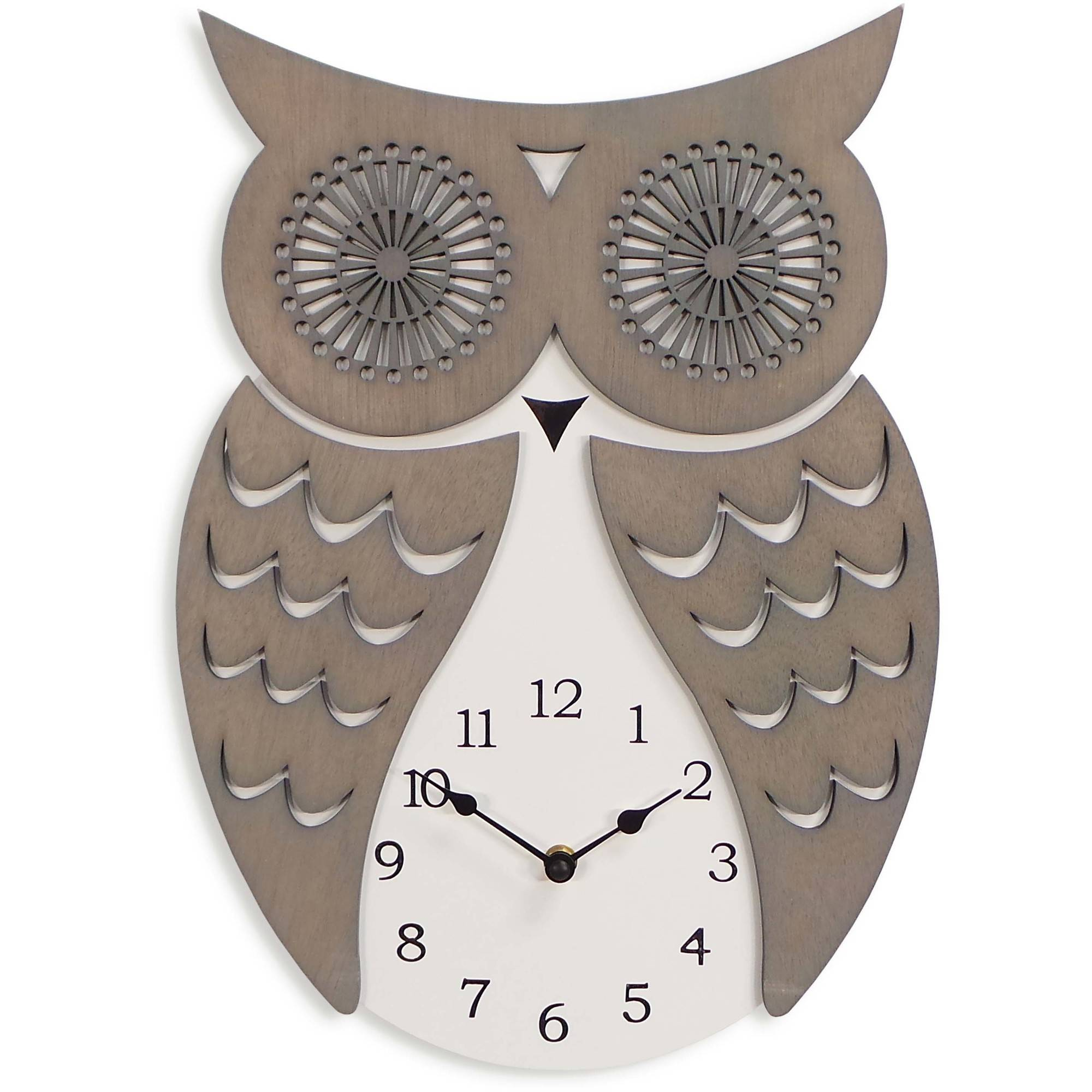 Better Homes and Gardens Owl Wall Clock