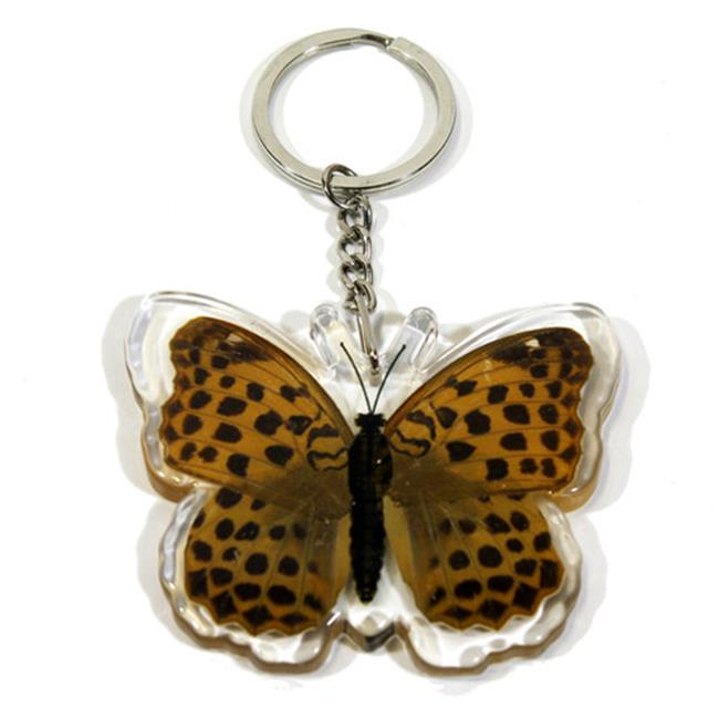 Ed Speldy East Company BTK106 Real Bug Indian Fritillary Butterfly Key Chain