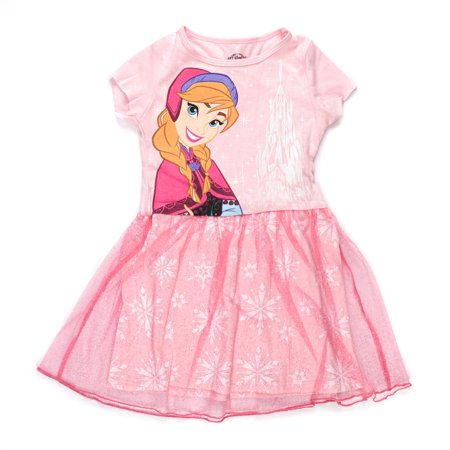 Disney Frozen Anna Girls Pink Tulle Dress | 6 - Disney Frozen Girls Dress