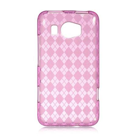 DreamWireless Checker TPU Rubber Candy Skin Case Cover For HTC Titan II, Hot Pink