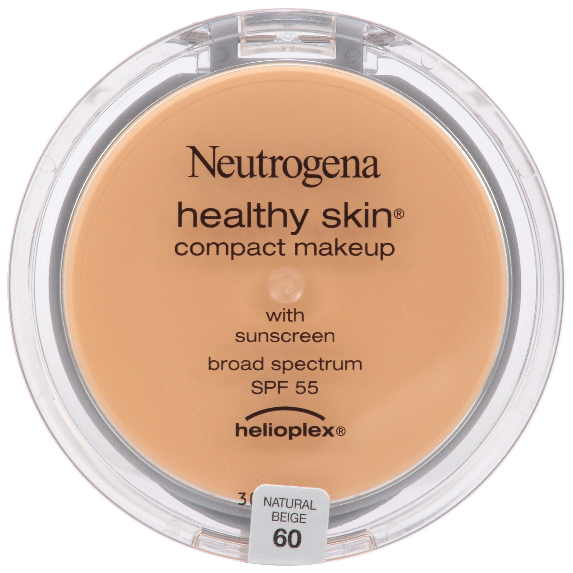 Neutrogena Healthy Skin Compact Makeup Broad Spectrum SPF 55, Natural Beige 60, .35 Oz