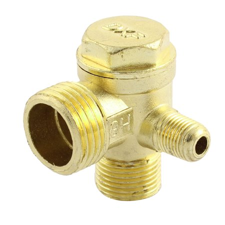 Compressor Part Replacement - 3-way Air Compressor Replacement Parts Male Threaded Check Valve