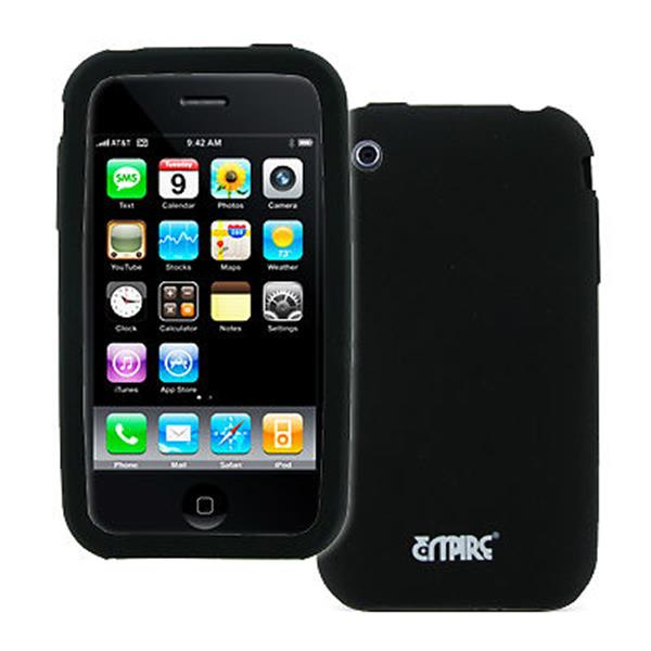EMPIRE Apple iPhone 3G / 3GS Black Silicone Skin Case Cover [EMPIRE Packaging]