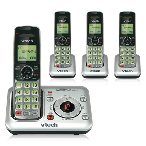 VTech CS6429-4 DECT 6.0 Cordless Phone w/ Digital Answering System & 3 Extra Handsets