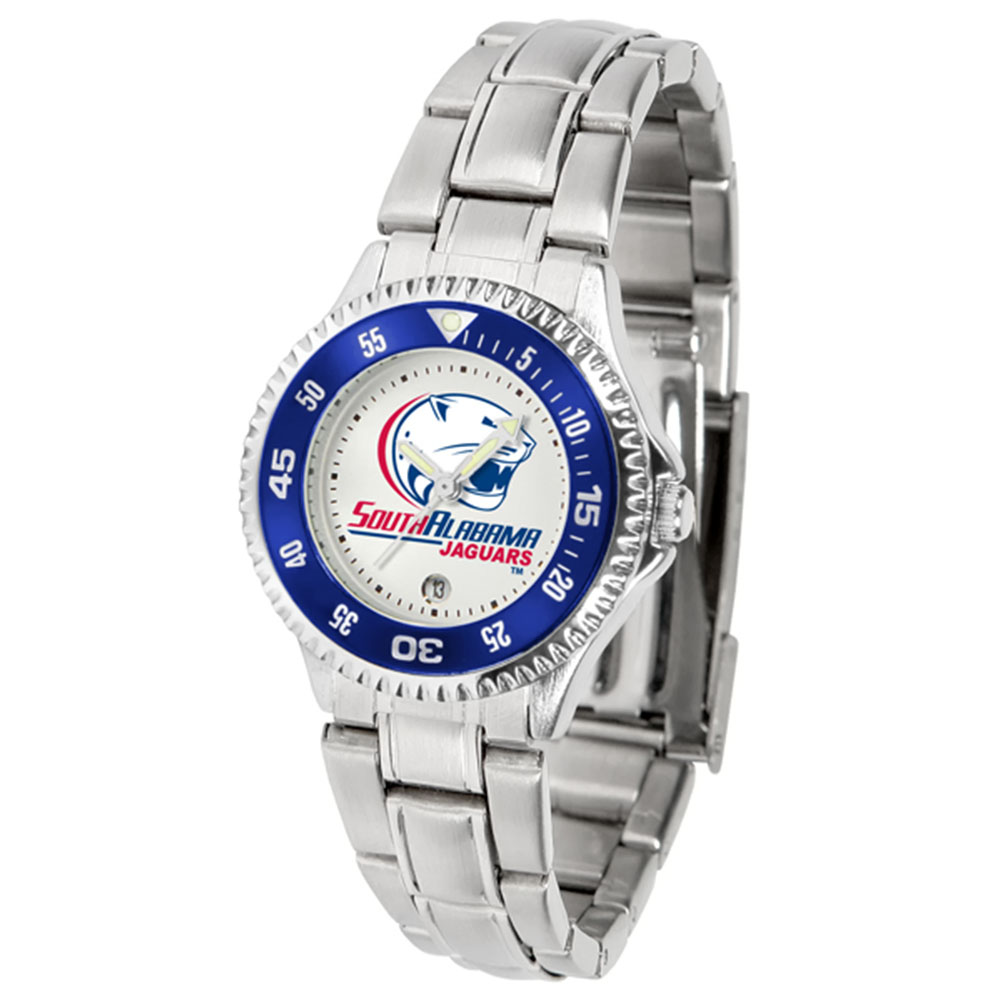 "South Alabama Jaguars NCAA ""Competitor"" Women's Watch (Metal Band)"