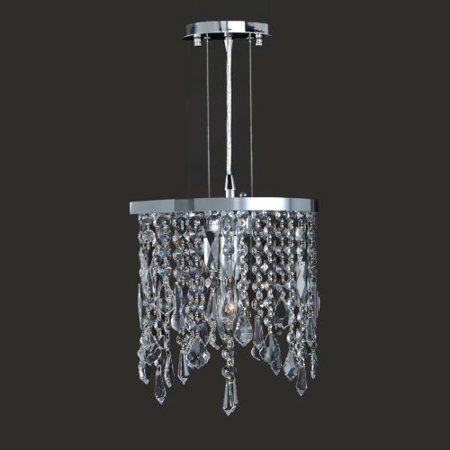 "Worldwide Lighting W83123C10-CL Fiona 1 Light 10"" Ambient Lighting Pendant in Ch"