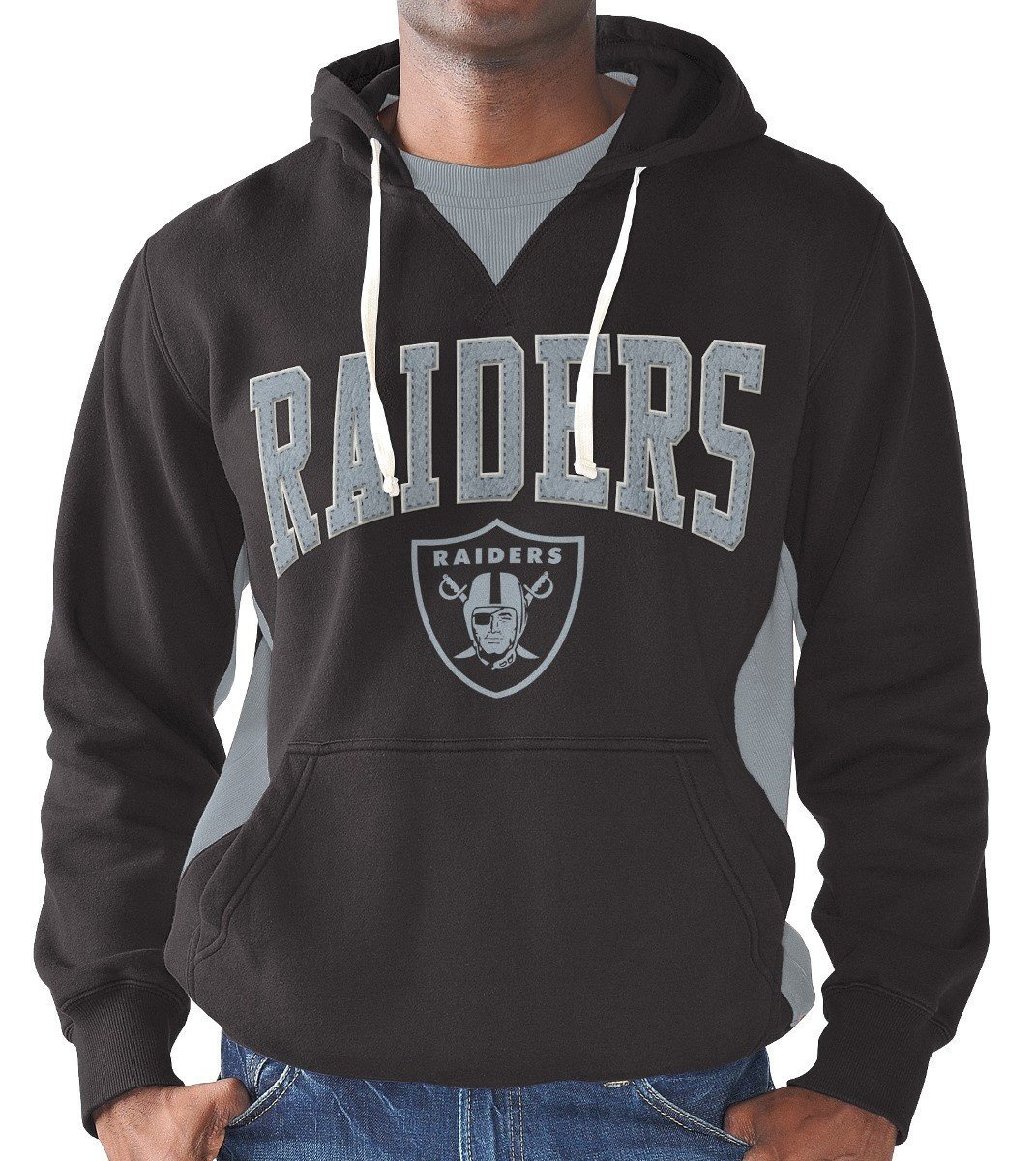 "Oakland Raiders Men's ""Play Action"" Pullover Hooded Sweatshirt"