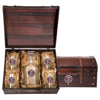 Florida State University Capitol Decanter Chest Set by Heritage Metalworks
