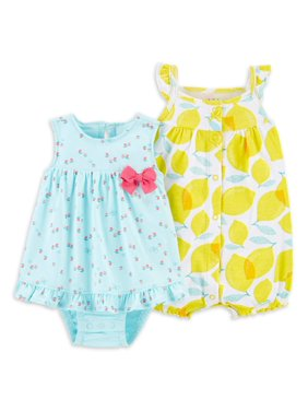 Child of Mine by Carter's Baby Girl Dress & Romper, 2pk