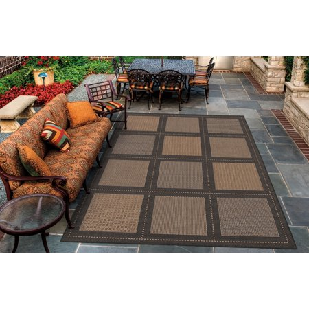 Couristan Recife Summit Rug, Cocoa/Black (Couristan Chocolate)