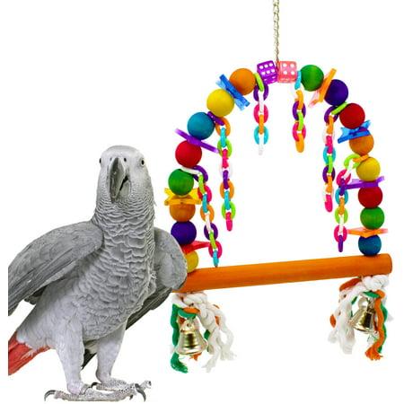 Bonka Bird Toys 1060 Rainbow Perch Swing Bird Toy.