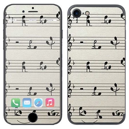 7 Music Notes (Skin Decal Vinyl Wrap For Apple Iphone 7 Or Iphone 8 / Music Notes Song)