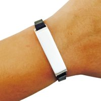 The KATE Single-Strap in Black and Silver for Fitbit Flex 2-S/M