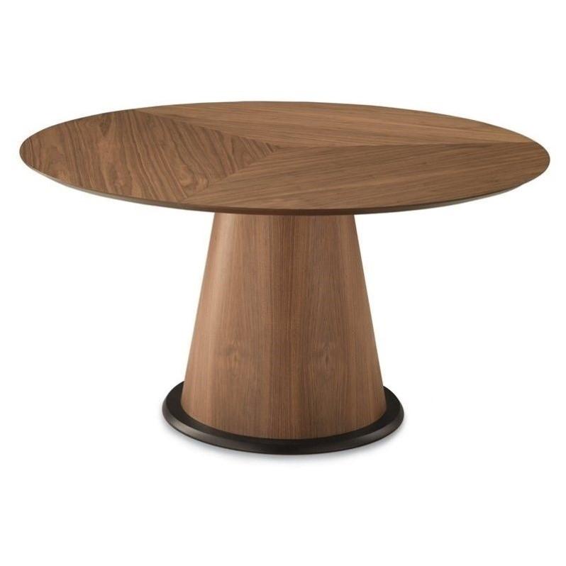 Domitalia Palio-152 Round Dining Table in Walnut by Domitalia USA