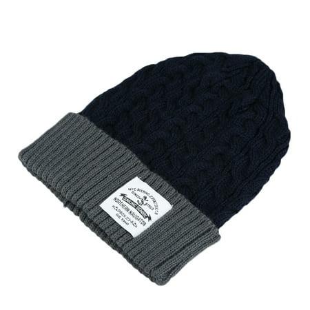 New Fashion Unisex Women Men Knitted Beanie Hat Warm Hip-Hop Cap Turtleneck Cap ()