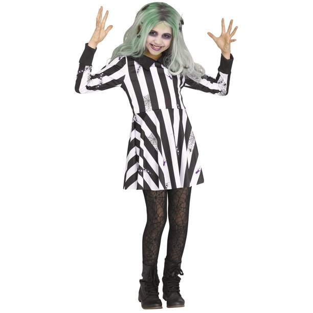 Ghost Girl Child Beetlejuice Zombie Creepy Halloween Costume Walmart Com Walmart Com