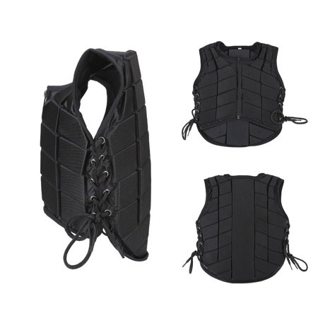Professional Men Women Boys Girls Horse Riding Safety Equestrian Protective Black Vest Protector Body Guard Waistcoat Equipment
