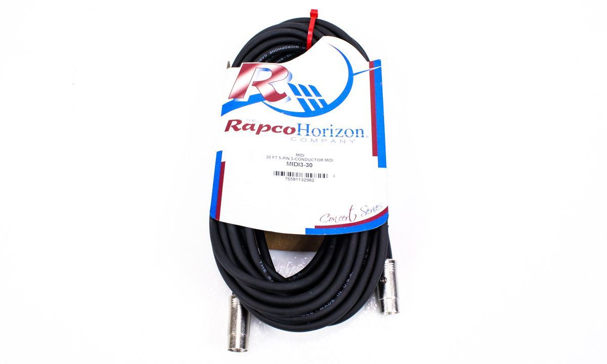 Rapco Horizon 30-Foot MIDI Cable MIDI3-30 30ft 30' by