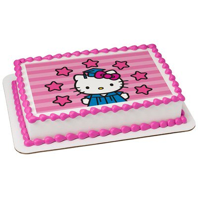 Hello Kitty Edible Icing Image For 1 4 Sheet Cake
