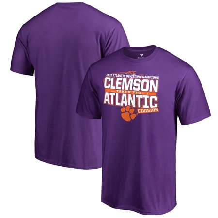 Clemson Tigers Fanatics Branded 2017 ACC Atlantic Football Division Champions T-Shirt - Purple
