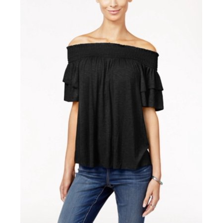 INC International Concepts Ruffle Off-The-Shoulder Top Size L