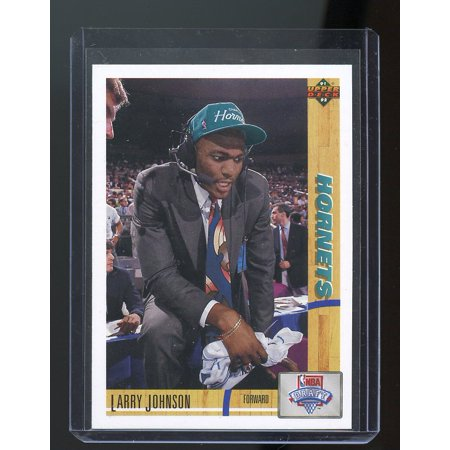 1991-92 Upper Deck Draft #2 Larry Johnson Charlotte Hornets Rookie