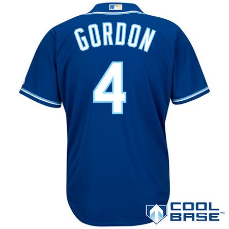 a86a8b2837e majestic men s replica kansas city royals alex gordon  4 cool base  alternate royal jersey - Walmart.com