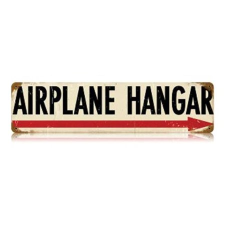 Past Time Signs V483 Airplane Hangar Aviation Vintage Metal Sign Vintage Metal Airplane Sign