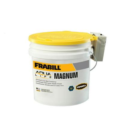Frabill Fishing Magnum Bait Bucket with Aerator, 4.25 (Magnum Plus Sports Bucket)