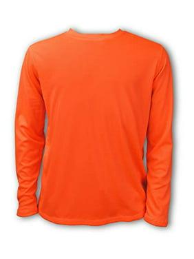 Ingear Boys' Swim Shirt UPF Boys sun shirts Boys' Long Sleeve Rash Guard (Neon Orange, Small)