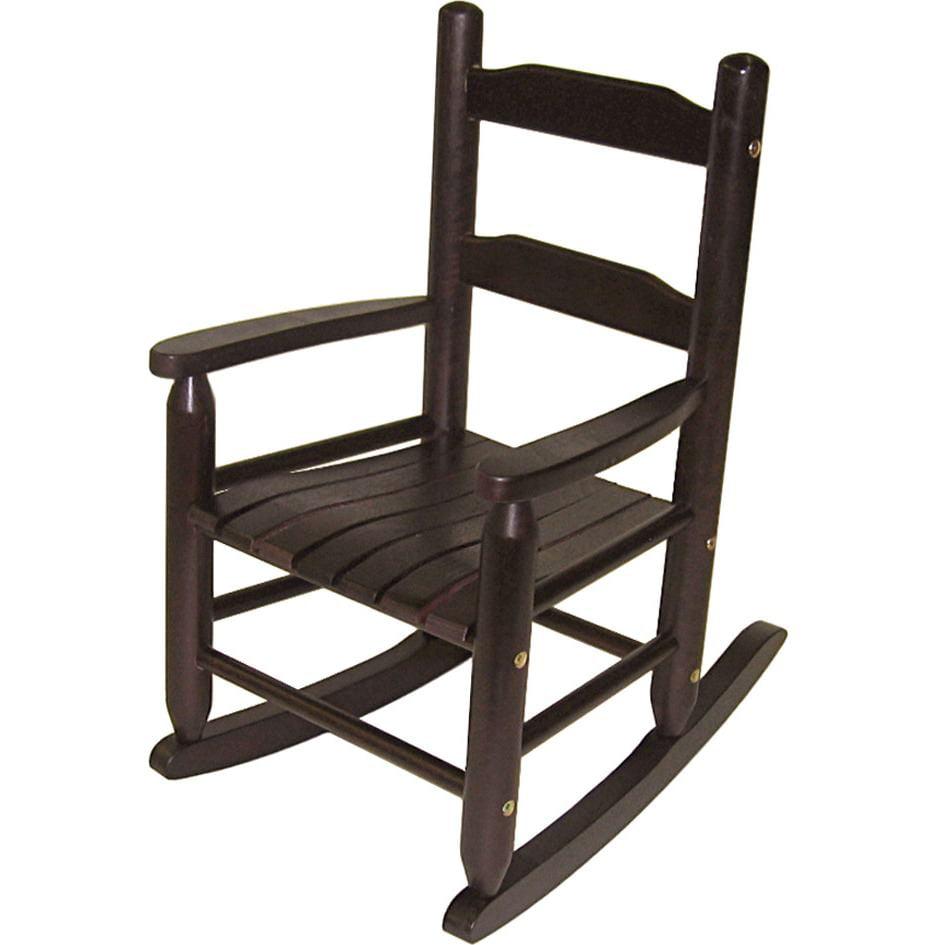 Lipper International Child's Rocking Chair - Espresso Finish
