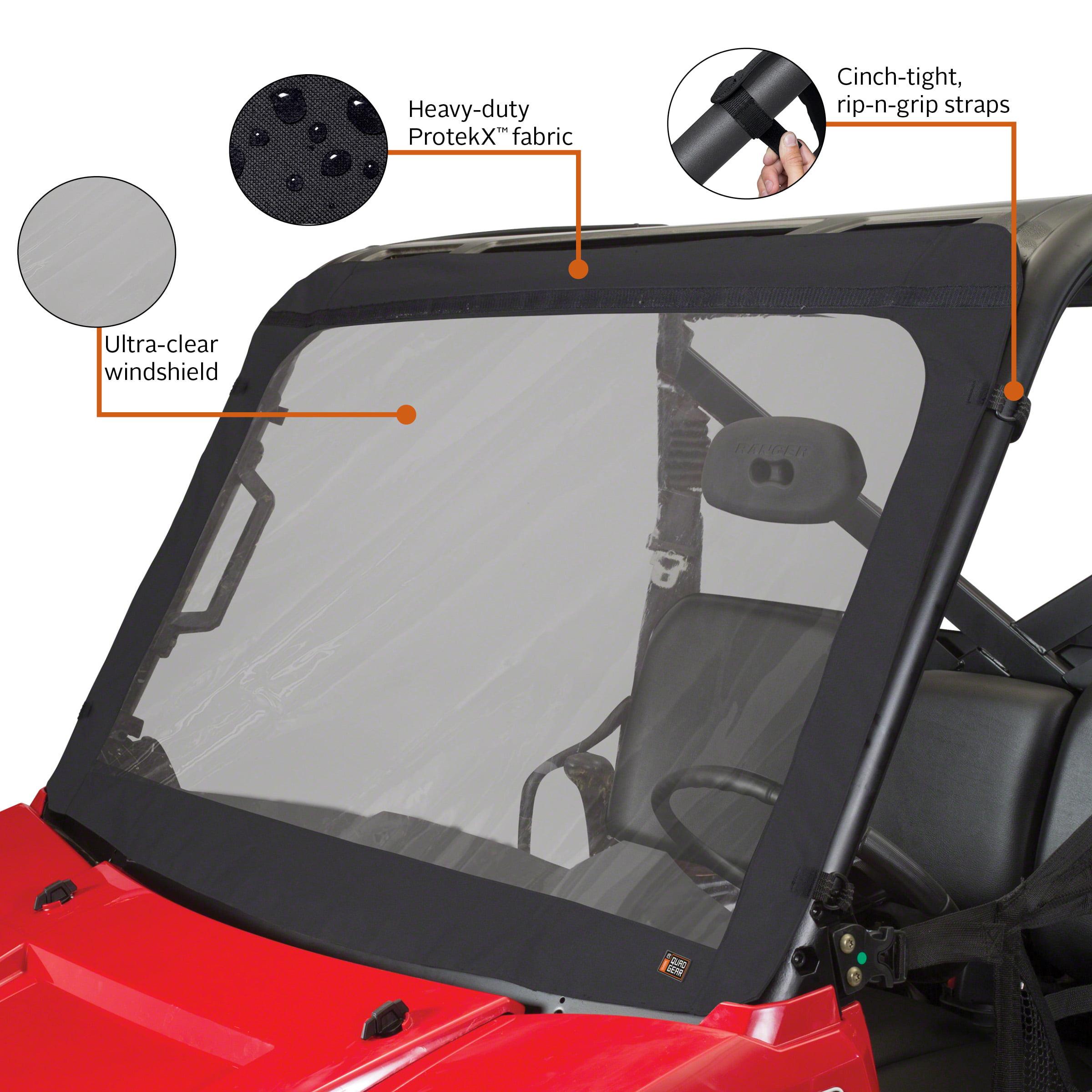 Pro Braking PBK0600-CLR-RED Front//Rear Braided Brake Line Transparent Hose /& Stainless Red Banjos