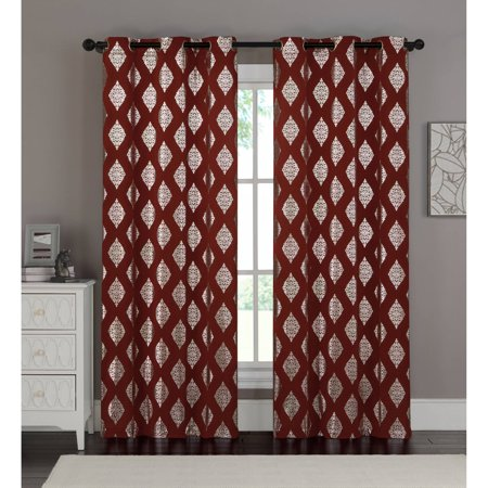 Vcny Home Sorrento 96  Grommet Top Window Curtain Panel  Set Of 2  Multiple Colors Available