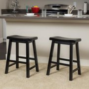 Denise Austin Home Toluca Saddle Wood Counter Stool (Set of 2) by GDF Studio