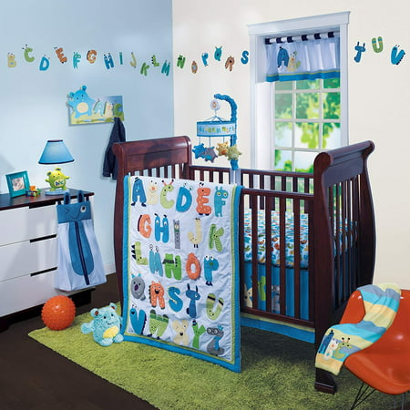 Lambs & Ivy Crib Bedding Set, Alpha Baby, 4 (Baby Lamb Pictures)