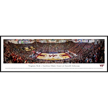 Virginia Tech Hokies 40.25'' x 13.75'' Standard Framed Basketball Panoramic Print - No Size ()