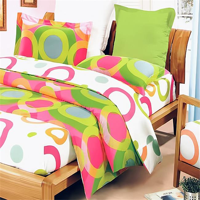 MINICFRS-DDX01020-4 Rhythm of Colors Luxury 4 Piece King Mini Comforter Set Combo 300GSM