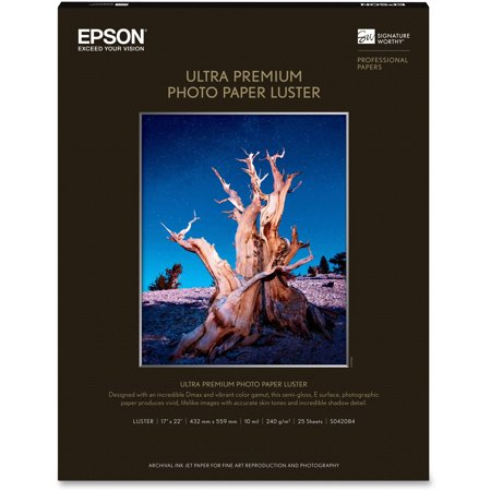 - Epson, EPSS042084, Ultra Premium Luster Surface Photo Paper, 1 Each