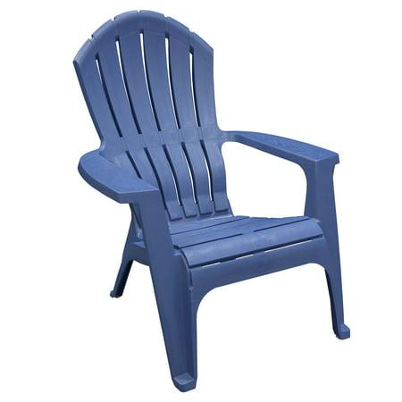 Image of Adams Manufacturing Resin Patio RealComfort Adirondack - Patriotic Blue